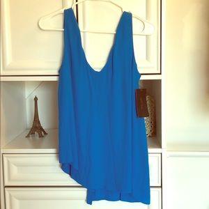 BNWT ZARA blue sleeveless shirt XS